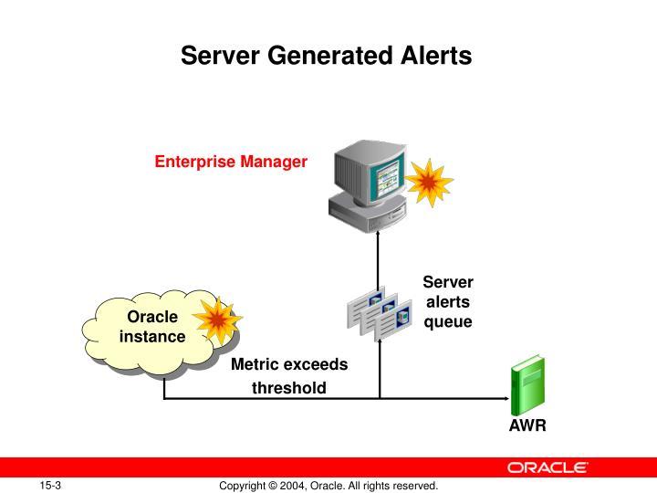 Server generated alerts