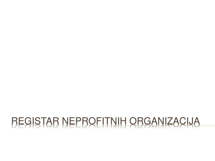 Registar neprofitnih organizacija