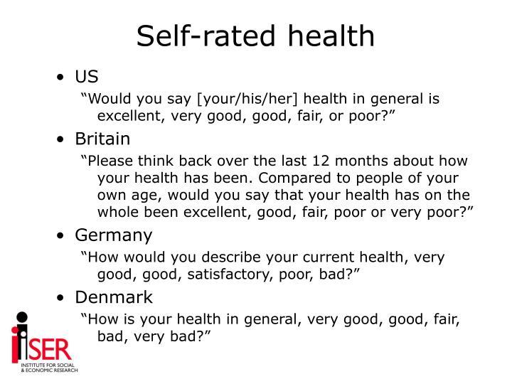 Self-rated health