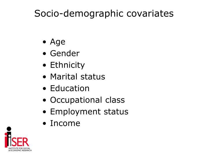 Socio-demographic covariates