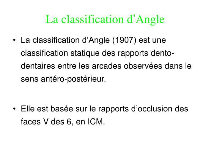 La classification d