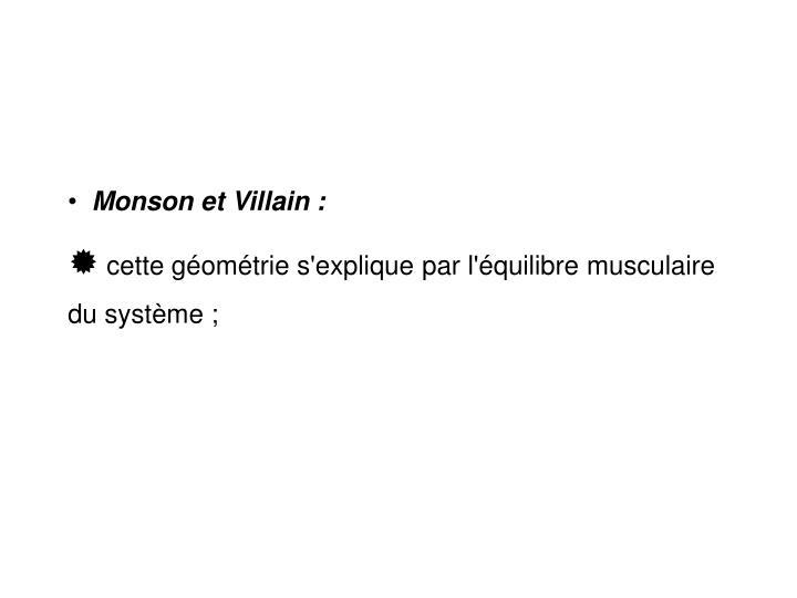 Monson et Villain :