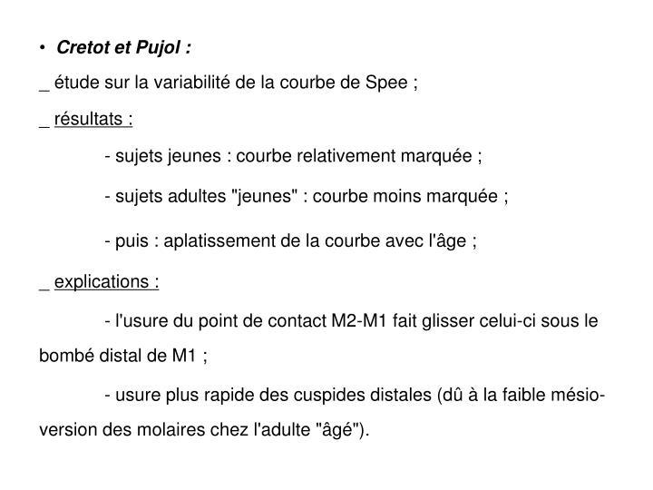 Cretot et Pujol :