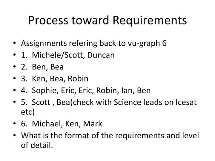 Process toward Requirements