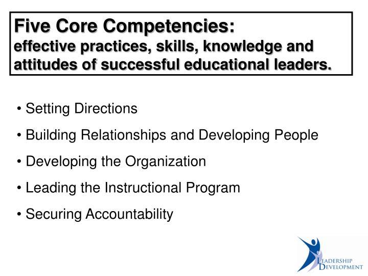 Five Core Competencies: