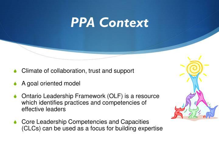 PPA Context