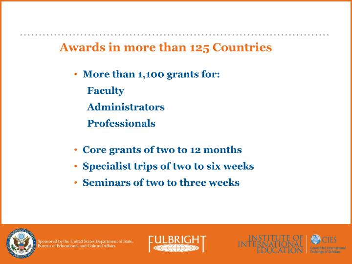 Awards in more than 125 Countries