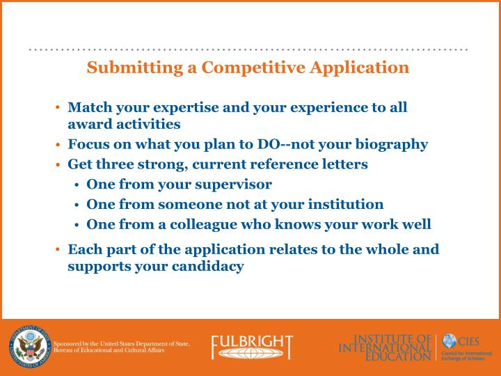 Submitting a Competitive Application