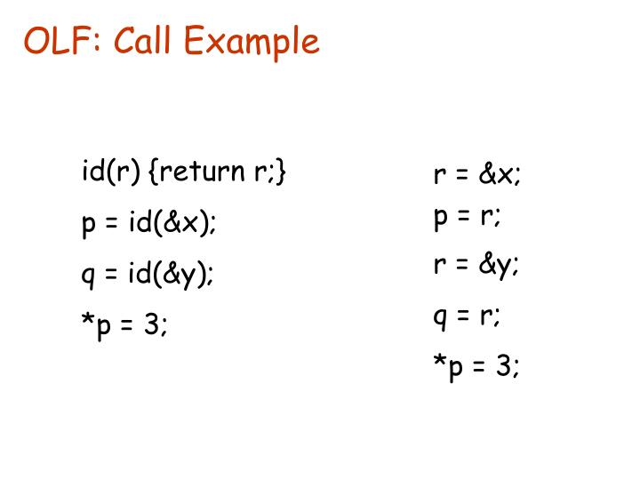 OLF: Call Example