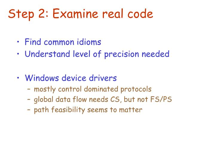 Step 2: Examine real code