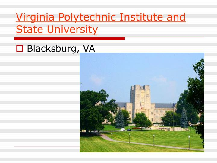 Virginia Polytechnic Institute and State University