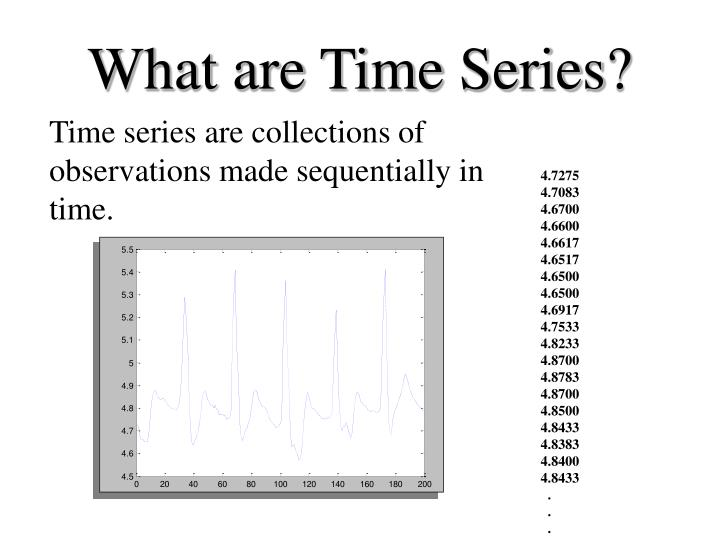 What are time series