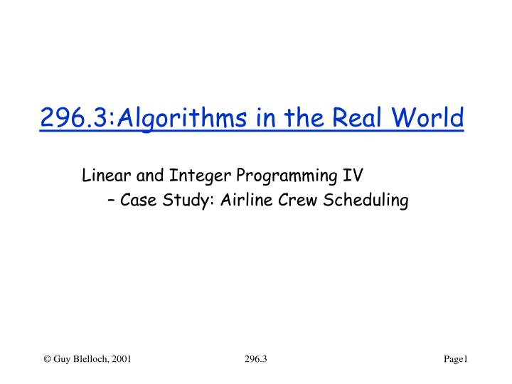 296 3 algorithms in the real world