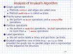 analysis of kruskal s algorithm