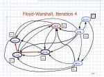 floyd warshall iteration 4