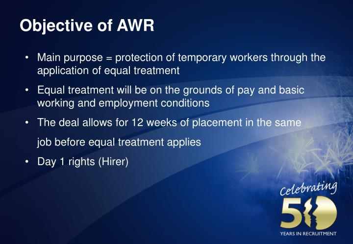 Objective of awr