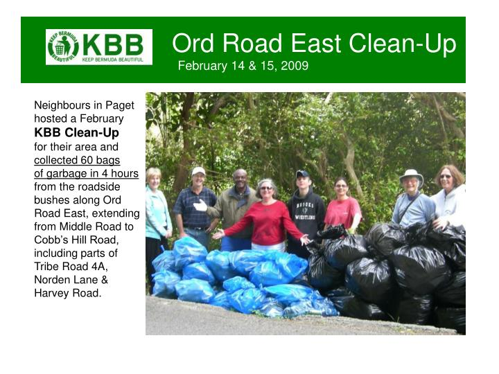 Ord road east clean up february 14 15 2009