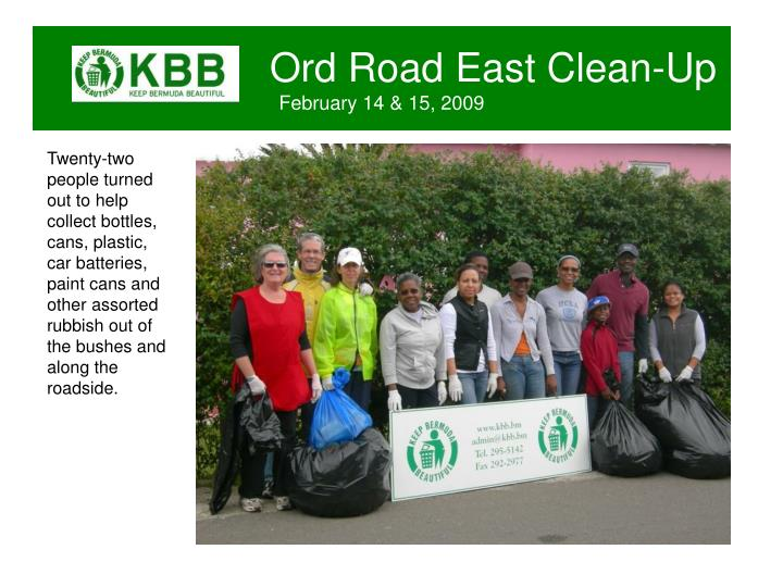 Ord road east clean up february 14 15 20091
