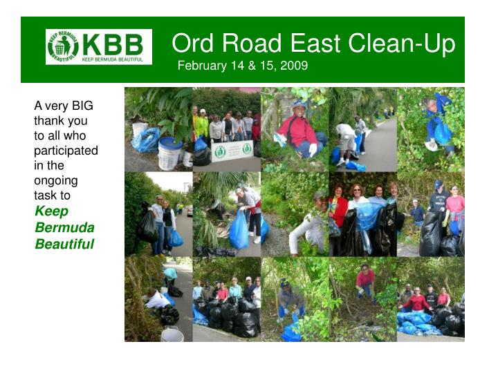 Ord Road East Clean-Up