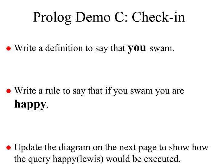 Prolog Demo C: Check-in