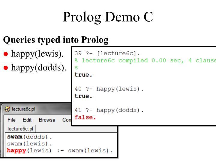Prolog Demo C