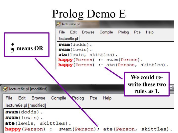 Prolog Demo E
