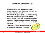 introducing terminology