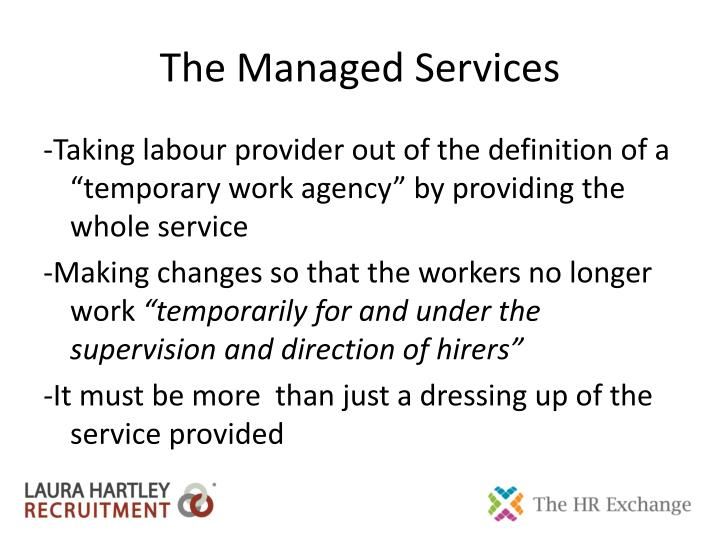 The managed services