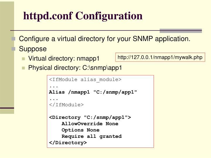 httpd.conf Configuration