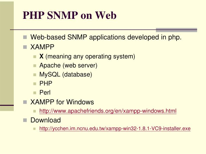 PHP SNMP on Web