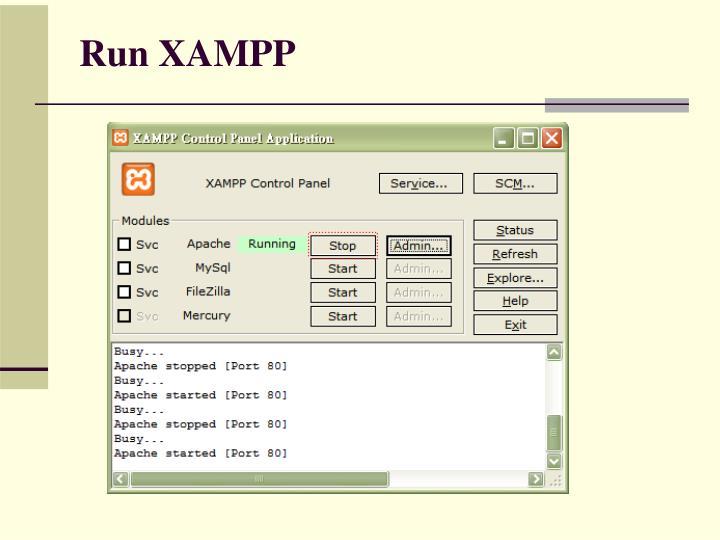 Run XAMPP