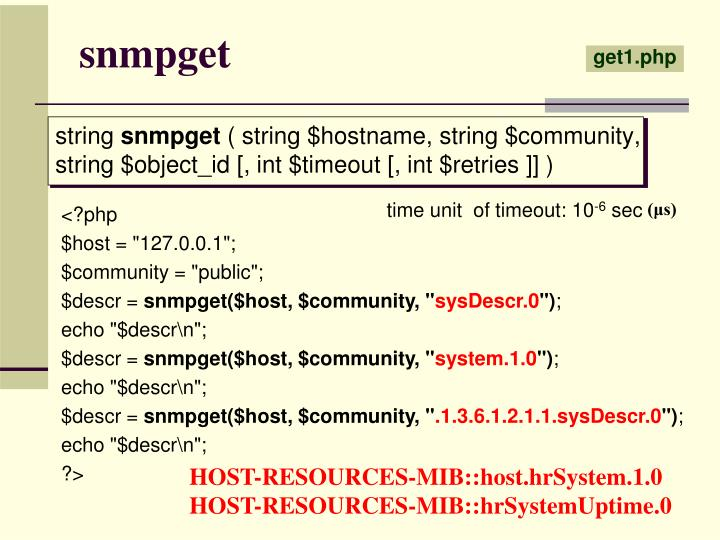snmpget