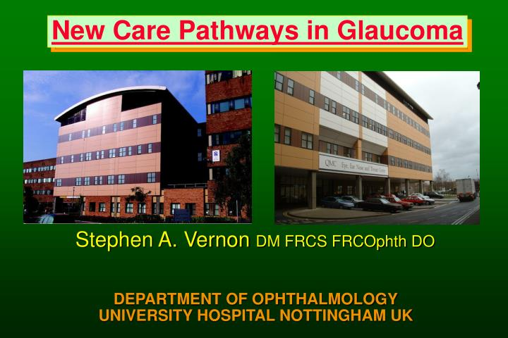 new care pathways in glaucoma n.