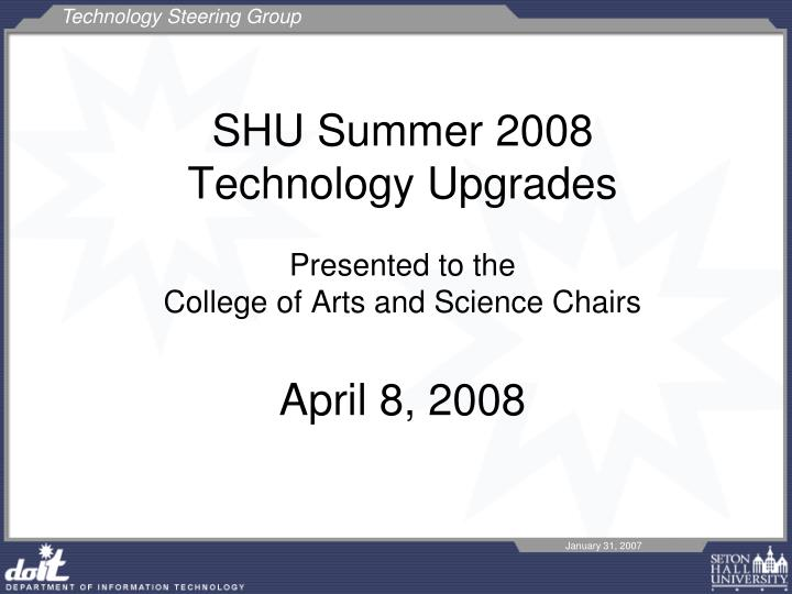 SHU Summer 2008