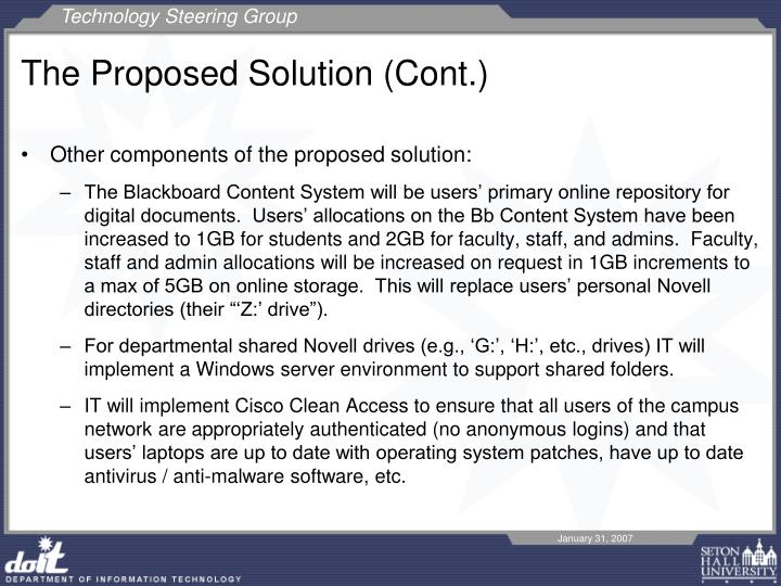 The Proposed Solution (Cont.)