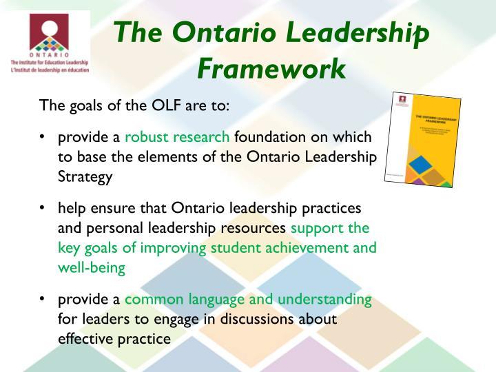 The Ontario Leadership Framework
