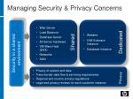 managing security privacy concerns