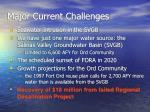 major current challenges