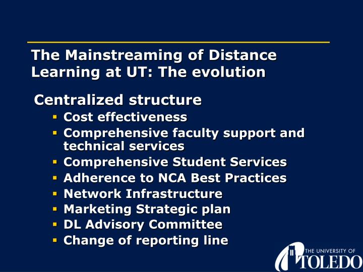 The Mainstreaming of Distance