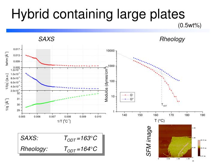 Hybrid containing large plates