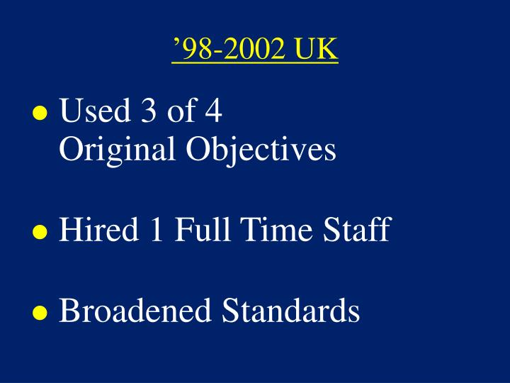 '98-2002 UK