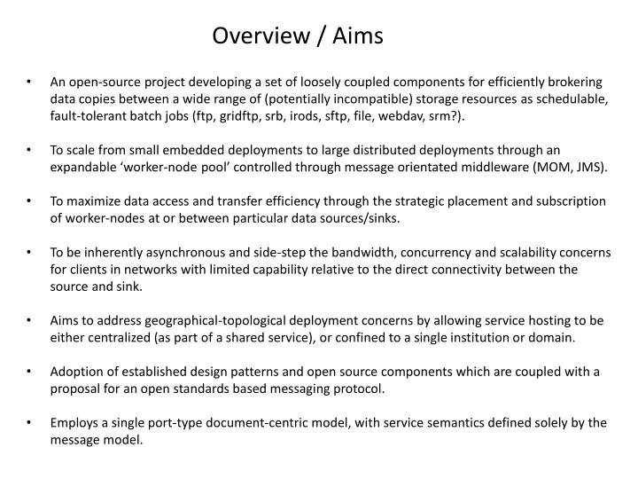 Overview aims