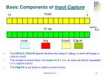 basic components of input capture