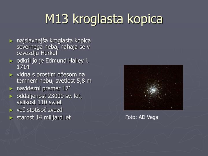 M13 kroglasta kopica