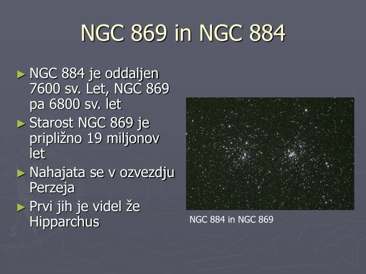 NGC 869 in NGC 884