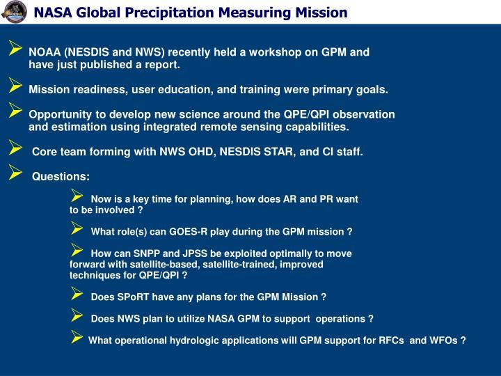 NASA Global Precipitation Measuring Mission