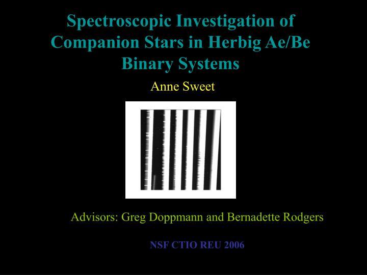 Advisors greg doppmann and bernadette rodgers nsf ctio reu 2006