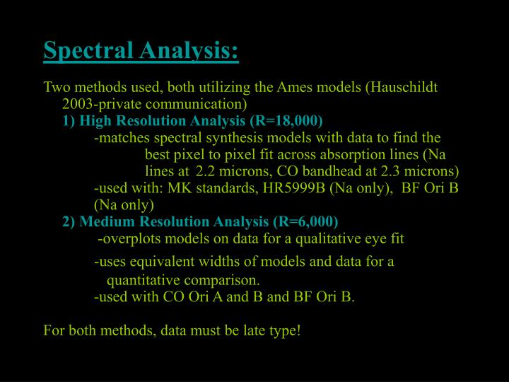 Spectral Analysis: