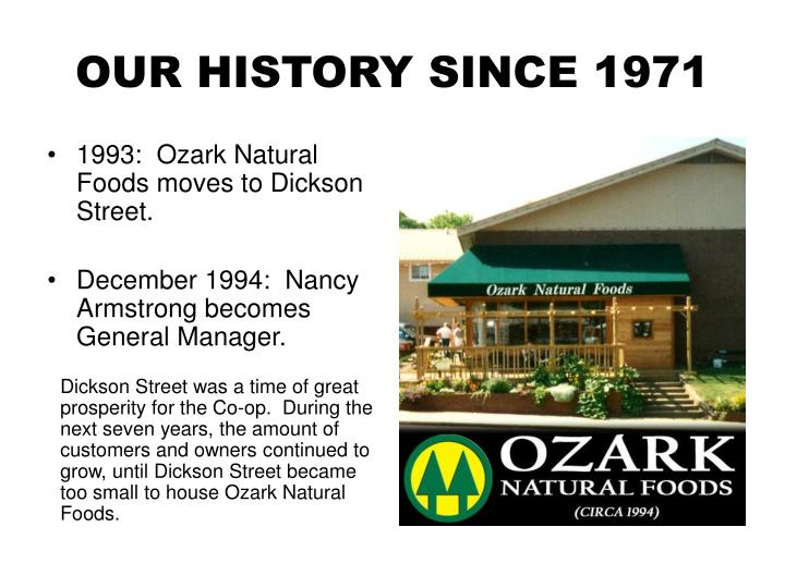 Our history since 19711