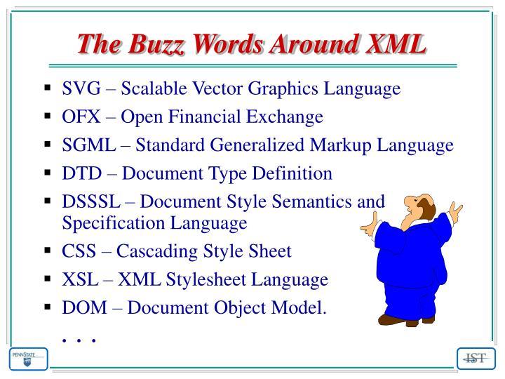 The Buzz Words Around XML